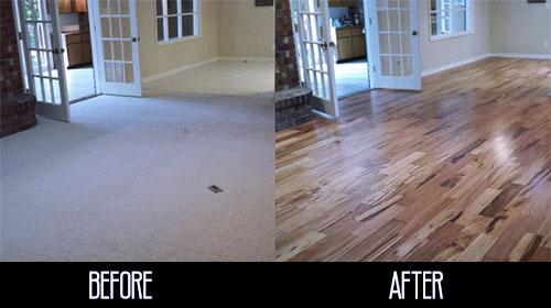 Fort Collins Flooring, Hardwood Flooring Replacing Old Carpet Floors